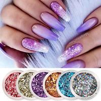 Nail Glitter Sequins Corlorful Mixed Size Flakies Paillette 3D Nail Art Decors