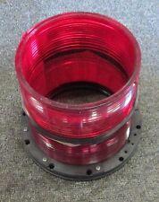 8307501500 Aqua Signal Red Lens with Intermediate Piece, Lantern 70 NEW