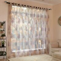 Home Door Window Tulle Voile Curtain Valance Drape Panel Sheer Divider 100*250cm