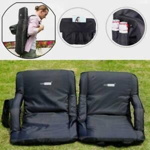 1/2pcs Folding Stadium Seat Chair Cushion Reclining Competit Bleacher Floor Sofa