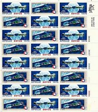 US STAMP # 1569-1570 APOLLO-SOYUZ  MINT SHEET 10c 1975 M/NH