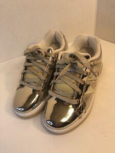 Youth 3 Girl's Heelys Split Chrome Gold Sneakers Skate Shoes 770451