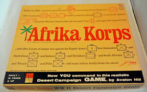 Avalon Hill Afrika Korps 1964 PUNCHED Complete