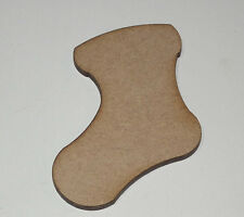 X10 Wooden MDF Christmas Xmas Stocking  Shape Plaque & Card Making 80mm High