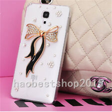 NEW Rhinestone Diamond Bling Jewelled Crystal Soft Gel Rubber Phone Case Cover B
