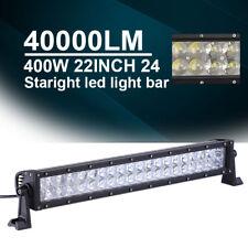 "22INCH 400W LED Work Light Bar Spot Flood Boat Driving Truck Offroad SUV AVT 24"""