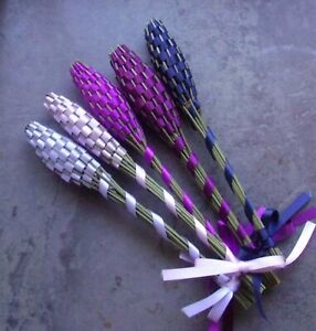 Lavender Filled Wands Gift Set of 5 Small Lavender Night Sky Handmade Handwoven