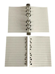REFILL LINED  LOOSE Papers 6 Hole  75 pages Suitable for Mulberry  A6 Agenda