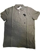 Exploded Icon Stretch Polo - Abercrombie & Fitch Size Large NWT