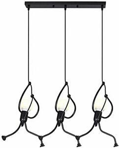 Retro Iron Swing Figure Industrial Loft Chandelier 3 Head Pendant Light Lamp