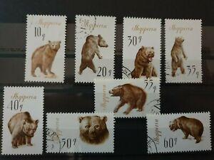 Albania 1965 Brown Bears  8 stamp set CTO