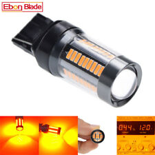 2 X T20 7440 WY21W LED 66SMD AMBER INDICATOR TURN SIGNAL CAR LIGHT BULB 12V-28V