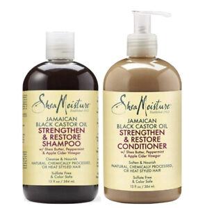 Shea Moisture Jamaican Black Castor Oil Shampoo And Conditionor Set