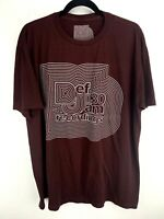 Def Jam 30 T-Shirt Short Sleeve DJ Recordings Cotton Size XL Red
