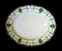 Beautiful Royal Doulton Countess Green Rim Oval Platter Circa 1920