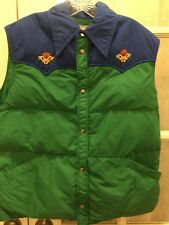 Roffe Skiwear Vintage Puffy Snow Ski Vest Vibrant Colors Free Ship Women Large