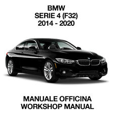 BMW SERIE 4 F32 435d. Service Manuale Officina Riparazione Workshop Manual ENG