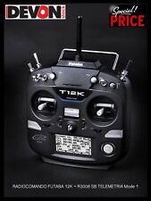 Radiocomando Futaba 12K R3008SB TELEMETRIA Mode 1 Elicottero Elettrico radio rc