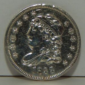 1833 - Capped Bust Half Dime - Bust 1/2 Dime  - 5¢ - Silver Coin - Cleaned