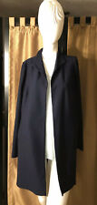 Eileen Fisher Midnight High Collar Long Knit Jacket Size S  NWT