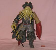 "7"" Davy Jones Poseable Figure From Disney's Pirate Of The Caribbran; By Zizzle"