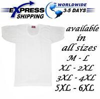 %100 Egyptian Cotton Top Tank Men Underwear Undershirt Vest T-Shirt half Sleeve