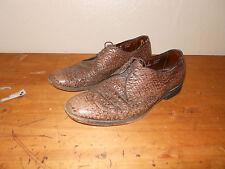 Allen Edmonds Wingtips Dark Brown Sharkskin Nassau Oxford Shoes Mens Sz 12 B
