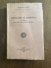 LIBRO FILOSOFIA BENEDETTO CROCE PROBLEMI DI ESTETICA Bari Laterza 1966