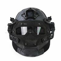 Tactical Airsoft Paintball Fast Helmet Full Face Goggles & G4 System Games