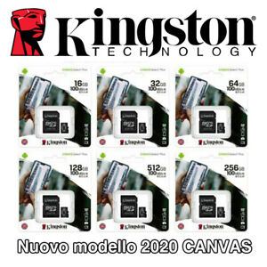 KINGSTON MICRO SD 8 16 32 64 128 GB CLASSE 10 MICROSD ULTRA SCHEDA MEMORIA 80 MB