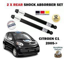 FOR CITROEN C1 1.0 1.4 HDI 2005->NEW 2 X REAR SHOCK ABSORBER SHOCKER SET