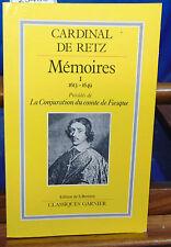 RETZ Mémoires -1 : 1613-1649...
