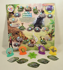 """RARE FOREIGN 2013 MK Woodland Adventure 10"""" Fold-Out Board Game McDonald's Epic"""