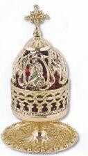 Orthodox Church Byzantine Virgin Mary brass vigil lamp