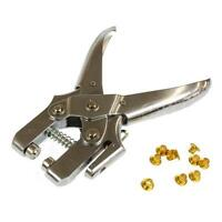 EYELET PLIERS HEAVY DUTY WITH 100 EYELETS HOLE PUNCH BRASS TOOL LEATHER