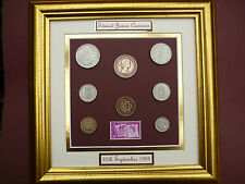 PERSONALISED FRAMED 1958 COIN SET 60th  BIRTHDAY / ANNIVERSARY GIFT IN  2018