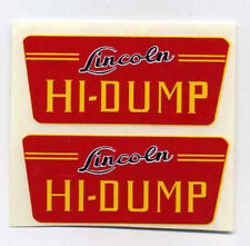 Lincoln Toys Hi - Dump Replacement Decal Set