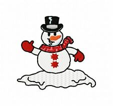 Snowman & Snowflake Group 10 Machine Embroidery Designs on CD in multi format