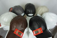 New 100% Genuine Real Lambskin Leather Baseball Cap Hat Trucker Sports Visor