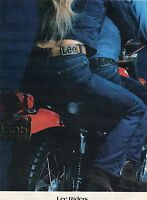 1972 Lee Riders Jeans & Jackets on Motorcycle Print Ad