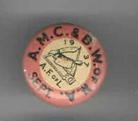 1937 LABOR UNION pin BUTCHER pinback #3