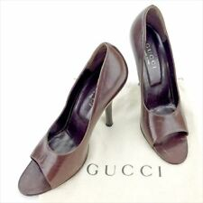 Gucci pumps heel Brown Woman Authentic Used T5618