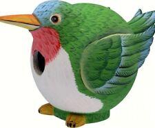 Songbird Essentials Hand-Painted Hummingbird Gord-o BirdHouse SE38800080