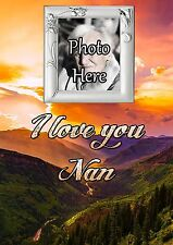 Personalised Photo Nan Graveside Memorial Card with Free Ground Stake F34