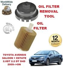 FOR TOYOTA AVENSIS 2.0 2.2 2009-->ON NEW OIL FILTER & OIL FILTER REMOVAL TOOL
