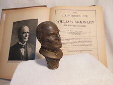 1896 William McKinley Head CANE Topper HANDLE Political U.S. President & Book