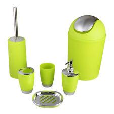 6 Pcs Bathroom Accessory Cup Soap Dish Dispenser Tumbler Toothbrush Holder Set