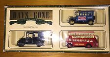 Diecast Lledo Days Gone Set of 3: London Double Decker Bus, Ford Model T, Taxi
