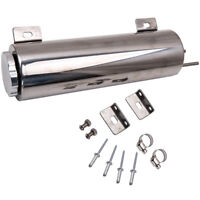 """Polished 3"""" 32oz Radiator Coolant Overflow Tank Bottle Cooling Catch Can"""
