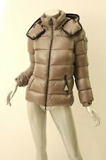 *Authentic* MONCLER Taupe Berre Hooded Puffer Jacket 0 $1090